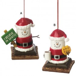 S'mores Santa Ornament