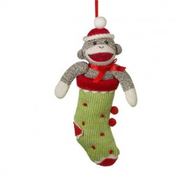 Sock Monkey Stocking Ornament