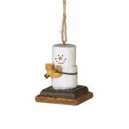 S'mores with Puppy and Kitten Ornament