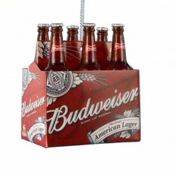 Budweiser Six-Pack Miniature Ornament