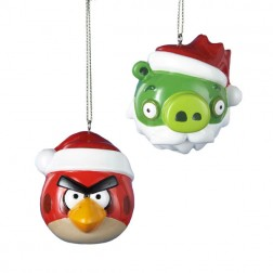 Angry Bird or Green King Pig Christmas Ornament