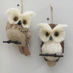 Natural Owl Ornament