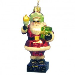 New York Santa Statue of Liberty Glass Ornament