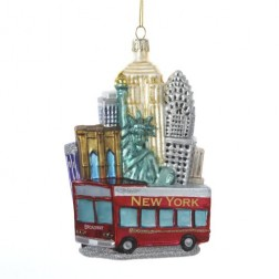 NYC Cityscape Glass Ornament