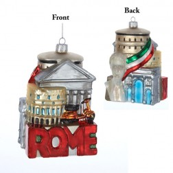 Rome Cityscape Glass Ornament