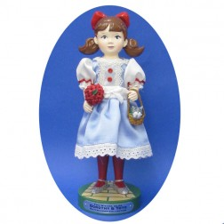 Dorothy Nutcracker With Silver Shoes