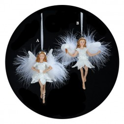 Fairies in White Christmas Ornaments