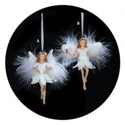 Fairies in White Christmas Ornaments