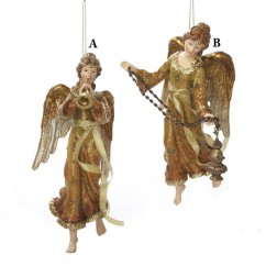 Golden Glitter Angel Ornament