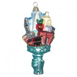 New York City Glass Ornament