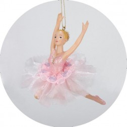 Pink Ballerina Christmas Ornaments
