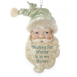 Inspirational Santa Claus Christmas Ornament