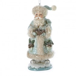 Green and Blue Santa Claus Christmas Ornament