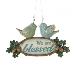 We are Blessed-Bird Couple Ornament