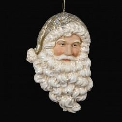 Gold and Ivory Santa Head
