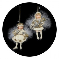 Gold and Ivory Girl Ornament