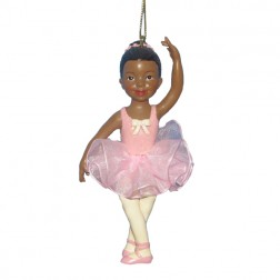 Black Little Ballerina Ornament