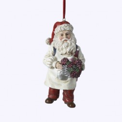 Wine Santa Christmas Ornament