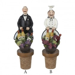 Chef and Butler Wine Bottle Stopper