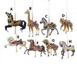 Carousel Animal Christmas Ornament