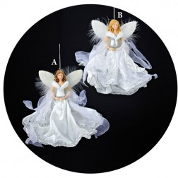 White & Silver Angel Ornament