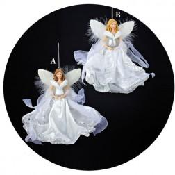 White & Silver Angel Ornament