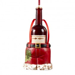 Wine Bottle in  Santa Pants Ornament