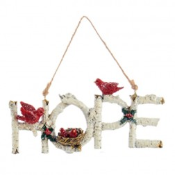 Birch Word Ornament - Hope