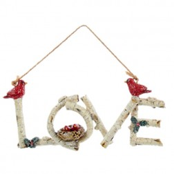 Birch Word Ornament - Love