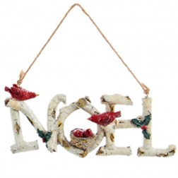 Birch Word Ornament - Noel