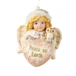 Resin Angel with Heart Ornament