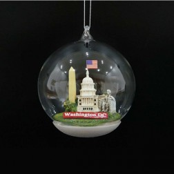4.5 Inch  Washington Dc Landmarks Glass Dome