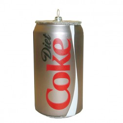 Glass Diet Coke Can Ornament