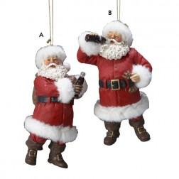 Fabriche Santa Claus Holding Coco-Cola Christmas Ornament