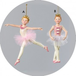 Leaping and Pirouette Ballerina Christmas Ornament