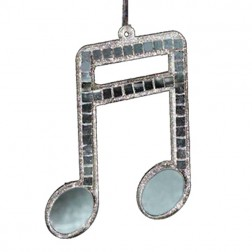 Two Sixteenth Note Musical Ornament