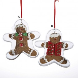 Gingerbread Kisses Cookie Cut-Out Christmas Ornament