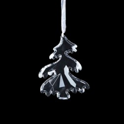 Acrylic Clear Tree Ornament