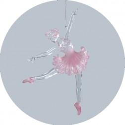 Acrylic Pink Ballerina Ornament