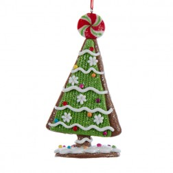 Gingerbread Candy Tree Ornament