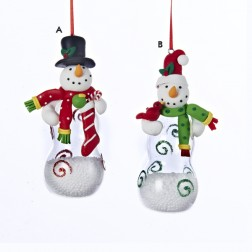 Snowman with Pear-Shaped Body Ornament