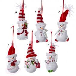 Resin Sassyville Snowman Ornament