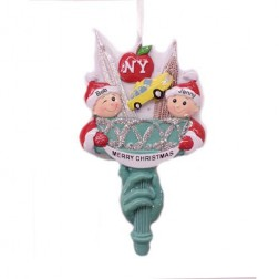 Statue of Liberty Torch Couple Personalized Ornament