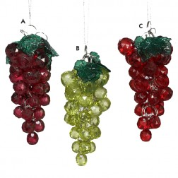 Beaded Grapes Ornament