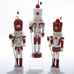 "6"" Hollywood Red or White Nutcracker Ornament"