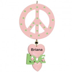 Peace Personalized Ornament