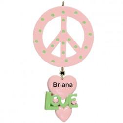 Peace Personalized Ornament