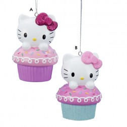 Hello Kitty Cupcake Ornament