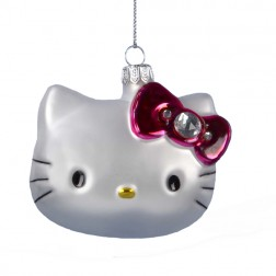 Hello Kitty Glass Head Ornament