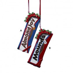 Hershey's Mounds and Almond Joy Bar Ornaments
